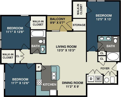 3 Bedrooms 2 Bathrooms Apartment for rent at Amelia Station in Clayton, NC