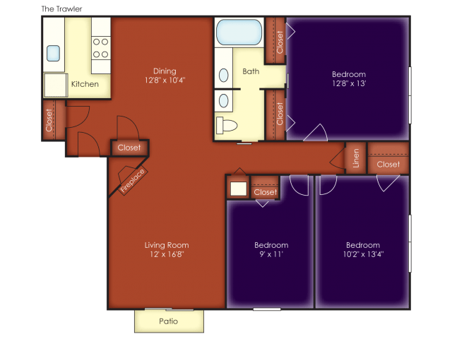 3 Bedrooms 1 Bathroom Apartment for rent at Windjammer Apartments in Charleston, SC