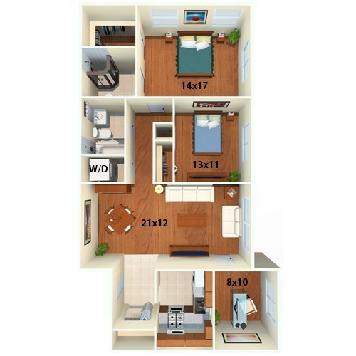 2 Bedrooms 2 Bathrooms Apartment for rent at Chestnut Hill Village Apartments in Philadelphia, PA