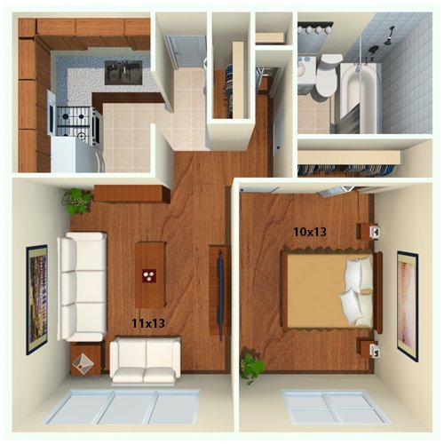 1 Bedroom 1 Bathroom Apartment for rent at Chestnut Hill Village Apartments in Philadelphia, PA