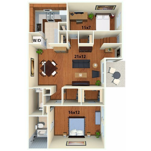 2 Bedrooms 1 Bathroom Apartment for rent at Chestnut Hill Village Apartments in Philadelphia, PA