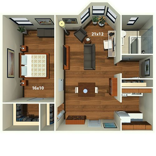 1 Bedroom 1 Bathroom Apartment for rent at Chestnut Hall Apartments in Philadelphia, PA