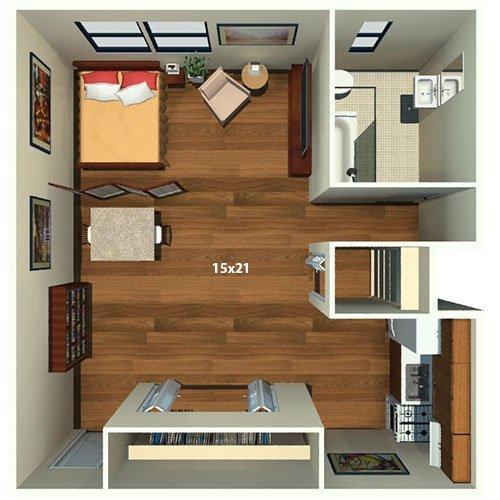 Studio 1 Bathroom Apartment for rent at Chestnut Hall Apartments in Philadelphia, PA