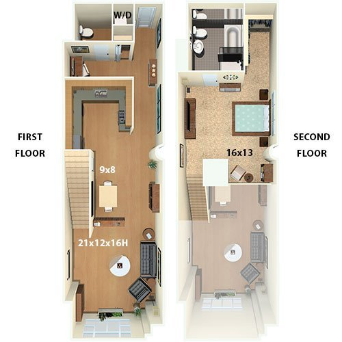 1 Bedroom 1 Bathroom Apartment for rent at The Riverloft Apartment Homes in Philadelphia, PA