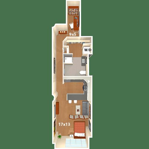 Studio 1 Bathroom Apartment for rent at The Riverloft Apartment Homes in Philadelphia, PA