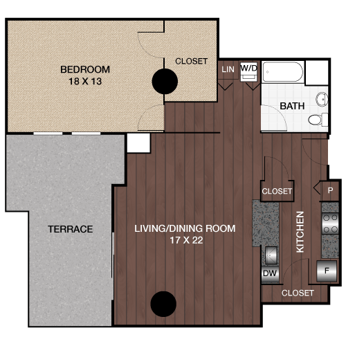 1 Bedroom 1 Bathroom Apartment for rent at The Left Bank Apartments in Philadelphia, PA