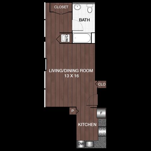 Studio 1 Bathroom Apartment for rent at Locust On The Park in Philadelphia, PA
