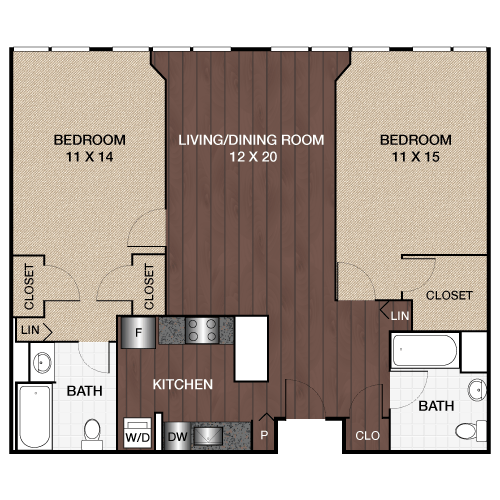 2 Bedrooms 2 Bathrooms Apartment for rent at Locust On The Park in Philadelphia, PA