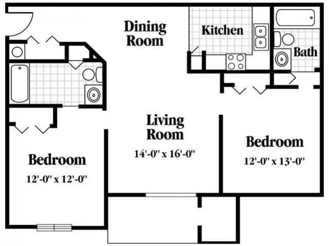 2 Bedrooms 2 Bathrooms Apartment for rent at Kimbrook in Baldwinsville, NY