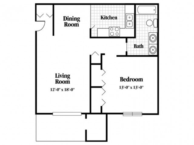 1 Bedroom 1 Bathroom Apartment for rent at Kimbrook in Baldwinsville, NY