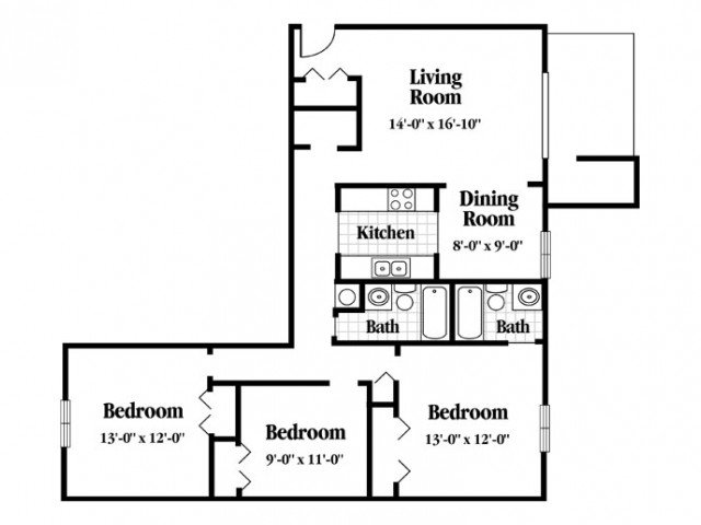 3 Bedrooms 2 Bathrooms Apartment for rent at Kimbrook in Baldwinsville, NY