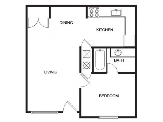 1 Bedroom 1 Bathroom Apartment for rent at The Bluffs At Epps Bridge in Athens, GA
