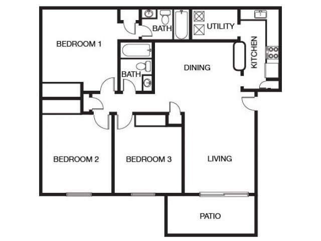 3 Bedrooms 2 Bathrooms Apartment for rent at The Bluffs At Epps Bridge in Athens, GA