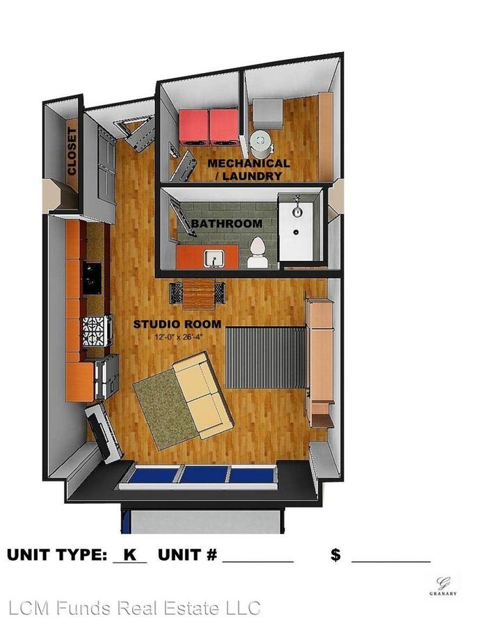 Studio 1 Bathroom Apartment for rent at 720 West Virginia Street in Milwaukee, WI