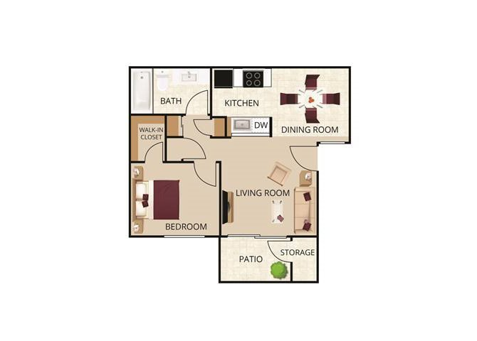 1 Bedroom 1 Bathroom Apartment for rent at Autumn Springs Apartments in Livermore, CA