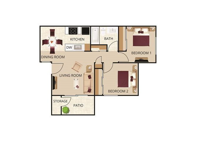 2 Bedrooms 1 Bathroom Apartment for rent at Autumn Springs Apartments in Livermore, CA