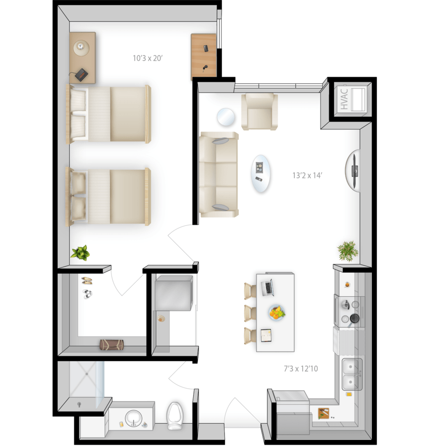 1 Bedroom 1 Bathroom Apartment for rent at The Knoll in Minneapolis, MN