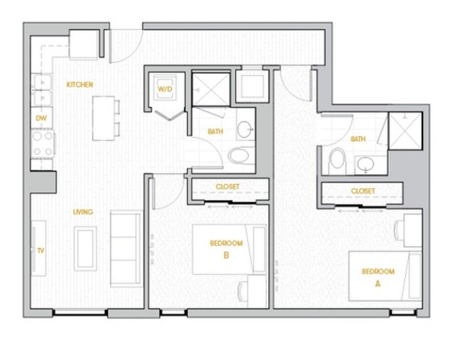 2 Bedrooms 2 Bathrooms Apartment for rent at Rise On Apache in Tempe, AZ