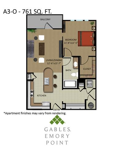 1 Bedroom 1 Bathroom Apartment for rent at Gables Emory Point in Atlanta, GA