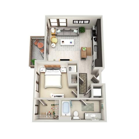 1 Bedroom 1 Bathroom Apartment for rent at 464 Bishop in Atlanta, GA