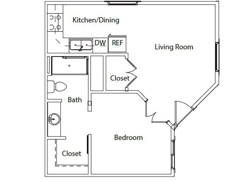 1 Bedroom 1 Bathroom Apartment for rent at Hillside Senior Living in Gaithersburg, MD