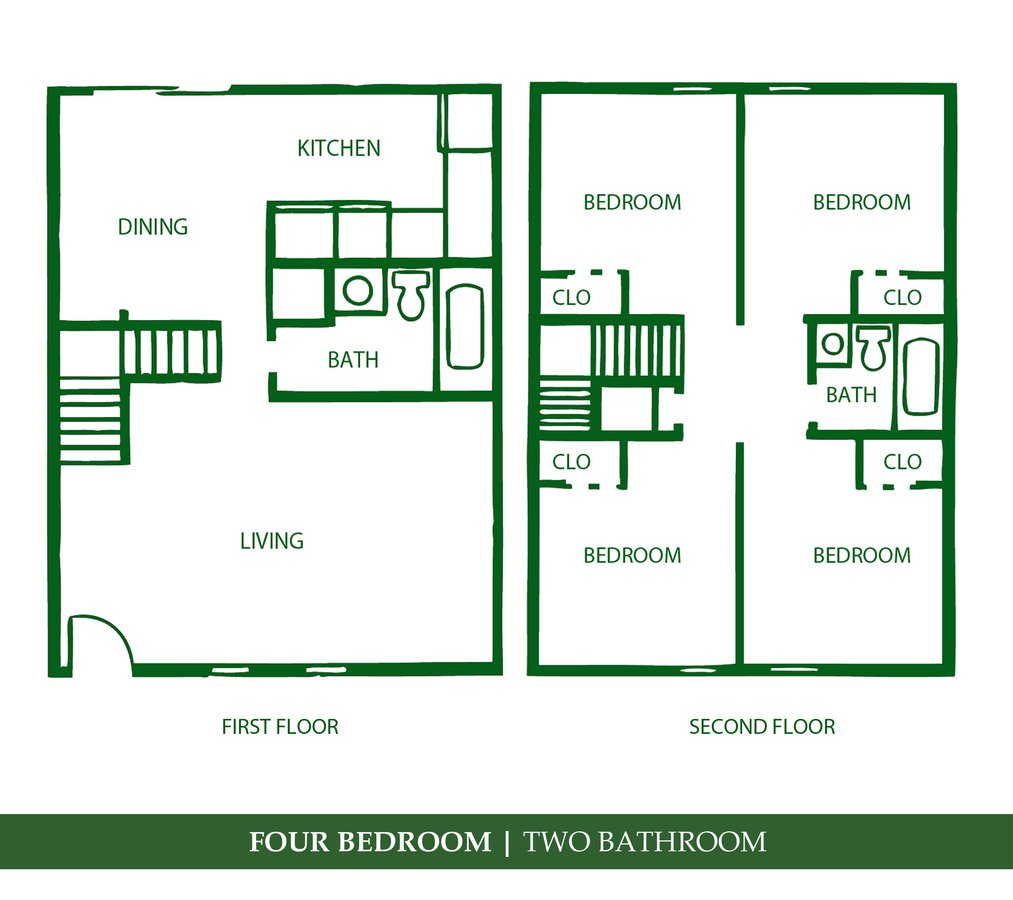 4 Bedrooms 2 Bathrooms Apartment for rent at Towne Parc in Gainesville, FL