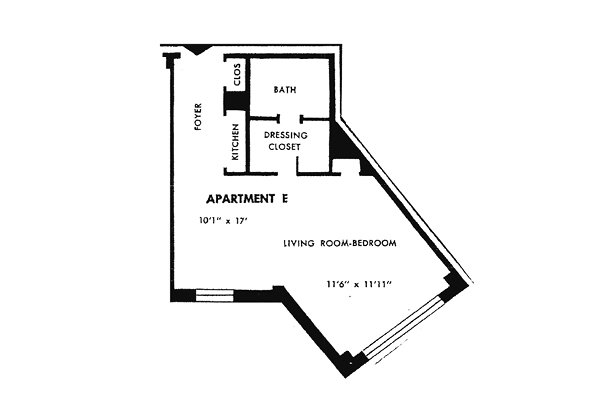 Studio 1 Bathroom Apartment for rent at Parkway House Apartments in Philadelphia, PA