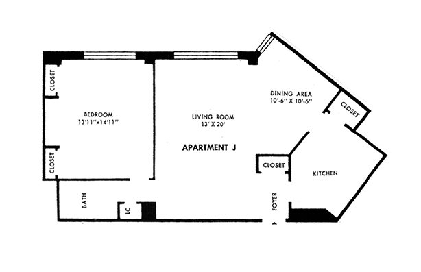 1 Bedroom 1 Bathroom Apartment for rent at Parkway House Apartments in Philadelphia, PA