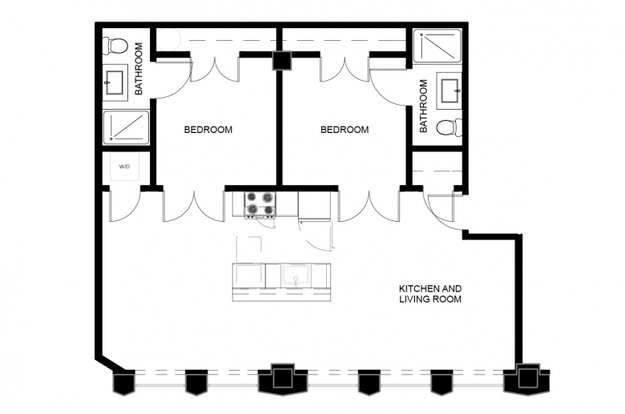 2 Bedrooms 2 Bathrooms Apartment for rent at The Residences At The Alcoa Building in Pittsburgh, PA