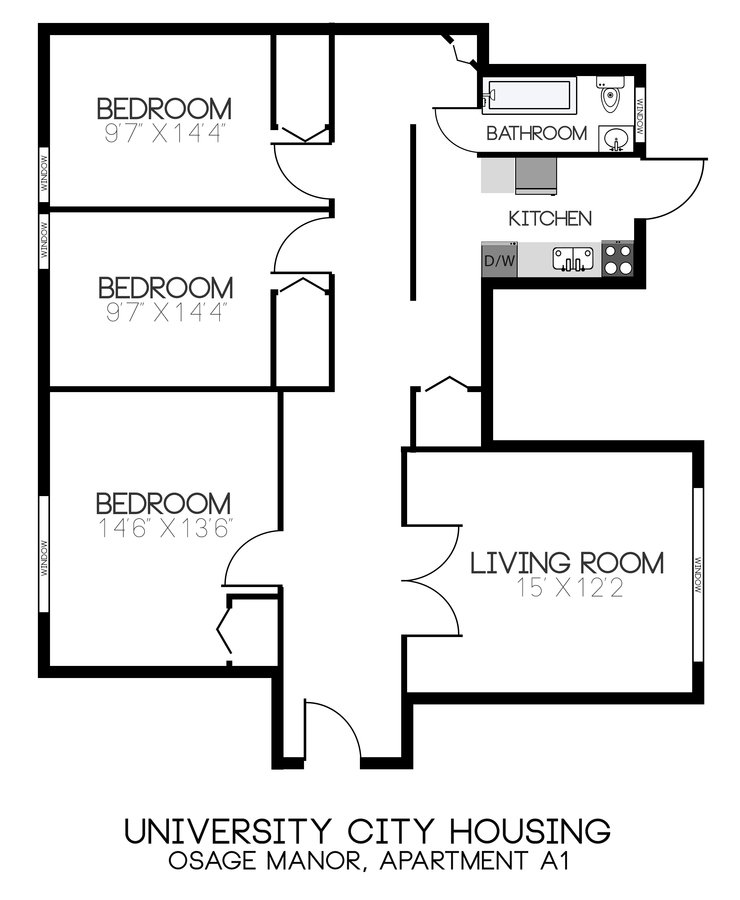 3 Bedrooms 1 Bathroom Apartment for rent at Osage Manor Apartments in Philadelphia, PA