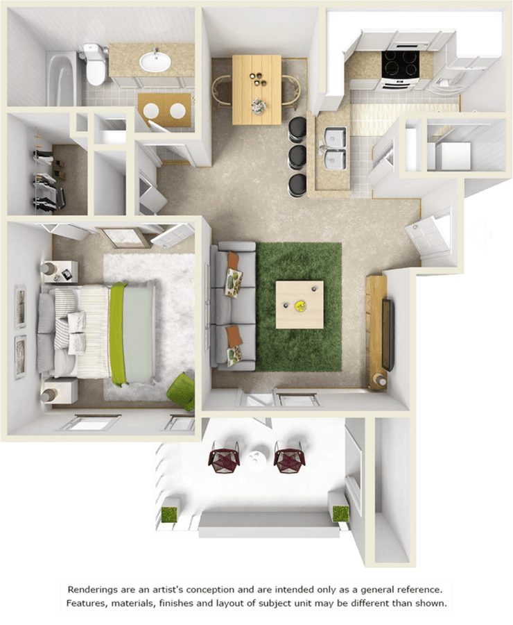 1 Bedroom 1 Bathroom Apartment for rent at Oviedo Grove in Oviedo, FL