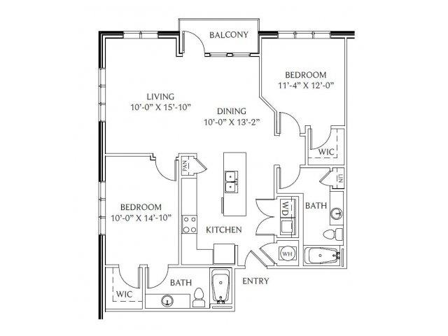 2 Bedrooms 2 Bathrooms Apartment for rent at Gables Emory Point in Atlanta, GA