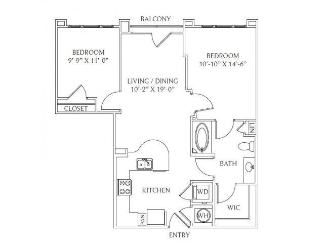 2 Bedrooms 1 Bathroom Apartment for rent at Gables Emory Point in Atlanta, GA
