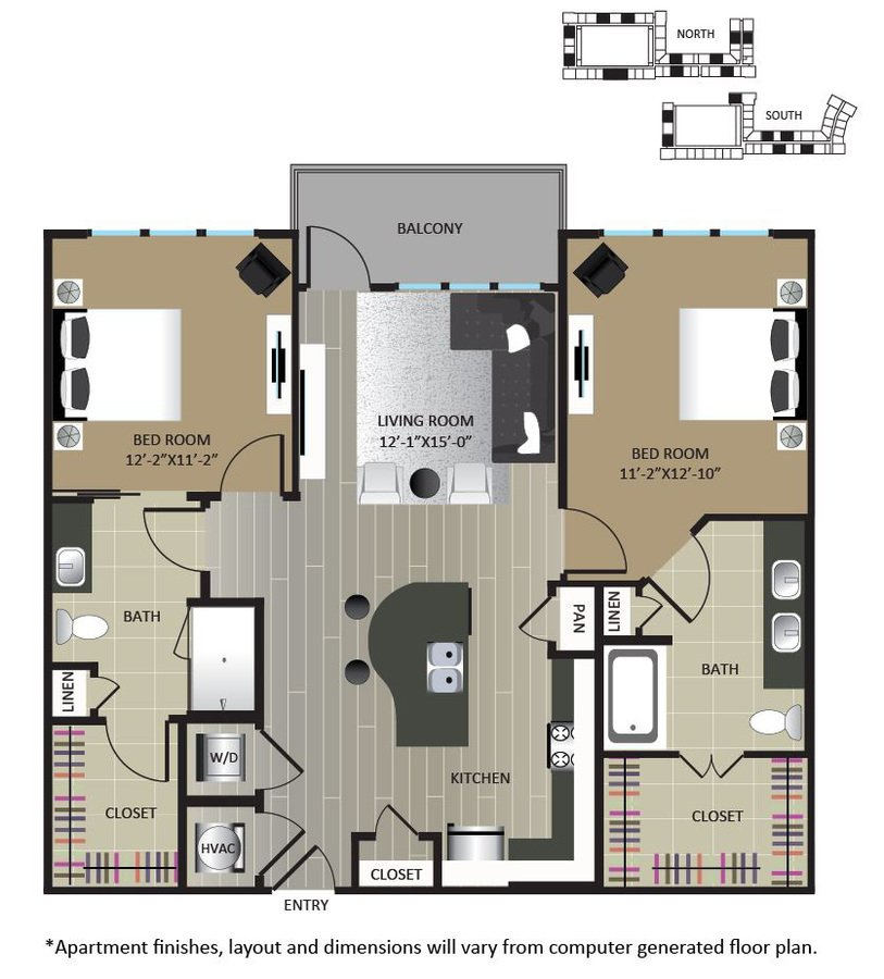 2 Bedrooms 2 Bathrooms Apartment for rent at Gables Brookhaven in Brookhaven, GA