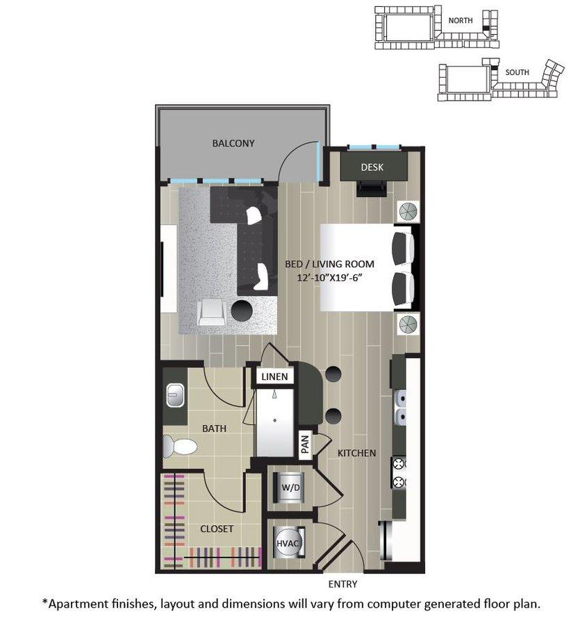 Studio 1 Bathroom Apartment for rent at Gables Brookhaven in Brookhaven, GA
