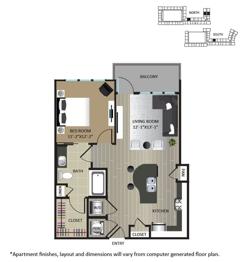 1 Bedroom 1 Bathroom Apartment for rent at Gables Brookhaven in Brookhaven, GA