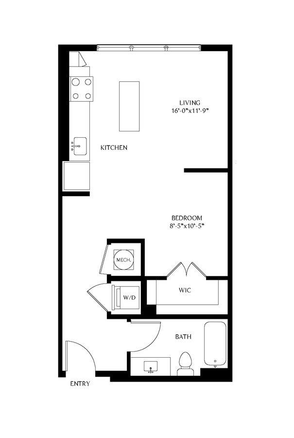 Studio 1 Bathroom Apartment for rent at Gables Old Town North in Alexandria, VA