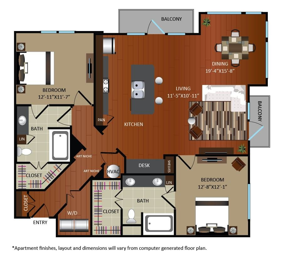 2 Bedrooms 2 Bathrooms Apartment for rent at Gables Upper Kirby in Houston, TX