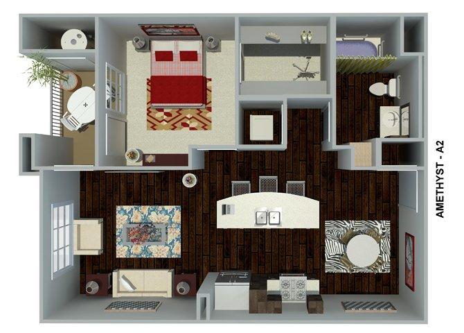 1 Bedroom 1 Bathroom Apartment for rent at Circa 2020 in Redlands, CA