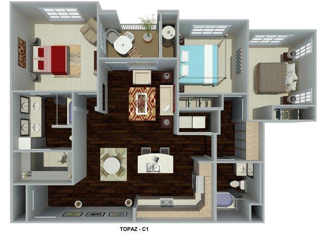 3 Bedrooms 2 Bathrooms Apartment for rent at Circa 2020 in Redlands, CA