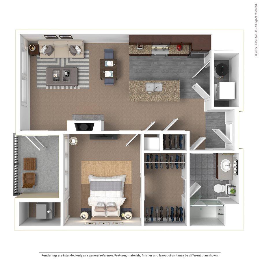 1 Bedroom 1 Bathroom Apartment for rent at Bridge Park in Dublin, OH