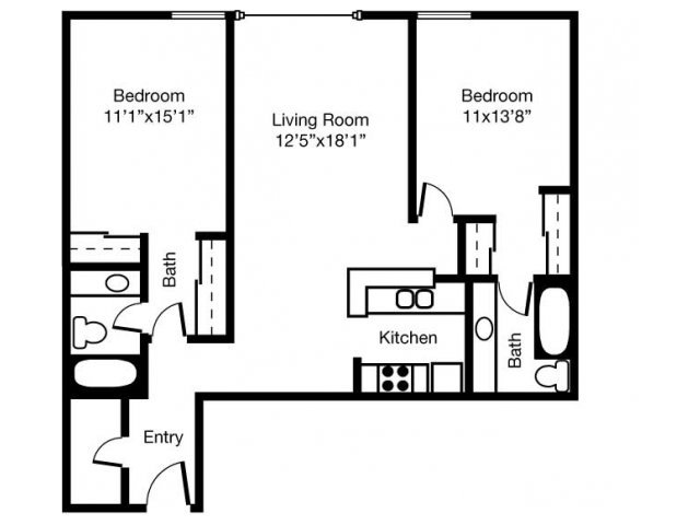2 Bedrooms 2 Bathrooms Apartment for rent at Eaves Mt. View At Middlefield in Mountain View, CA