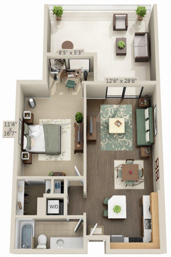 1 Bedroom 1 Bathroom Apartment for rent at Avalon Marina Bay in Marina Del Rey, CA
