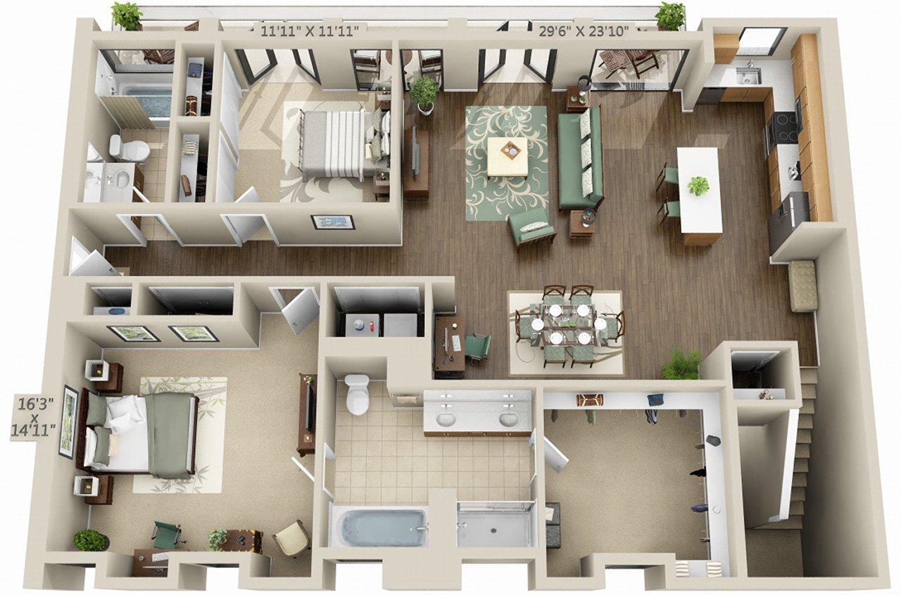 2 Bedrooms 2 Bathrooms Apartment for rent at Avalon Marina Bay in Marina Del Rey, CA