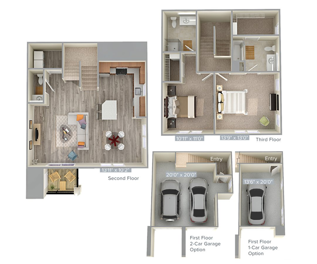 2 Bedrooms 2 Bathrooms Apartment for rent at Avalon Laurel in Laurel, MD