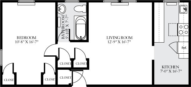 1 Bedroom 1 Bathroom Apartment for rent at Eaves Tunlaw Gardens in Washington, DC