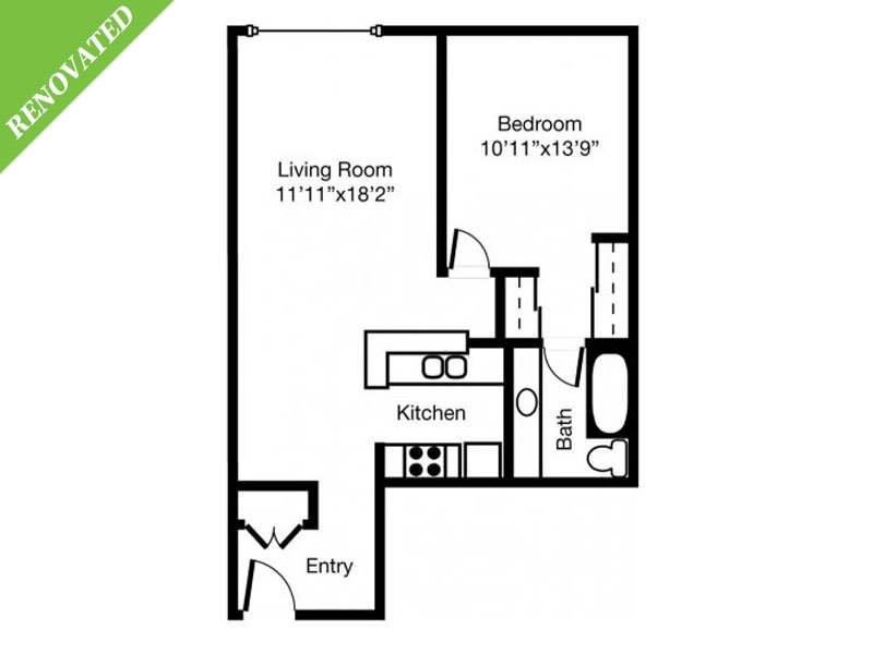 1 Bedroom 1 Bathroom Apartment for rent at Eaves Mt. View At Middlefield in Mountain View, CA