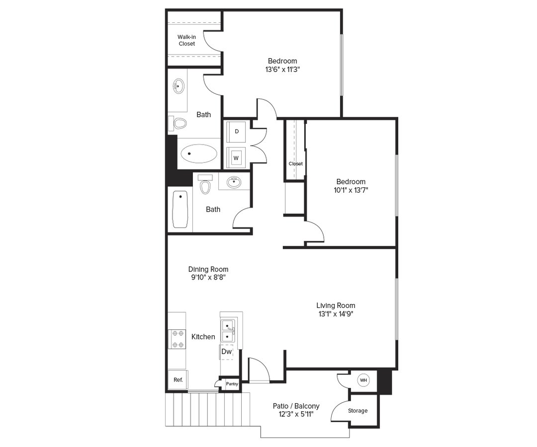 2 Bedrooms 2 Bathrooms Apartment for rent at Avalon Willow Glen in San Jose, CA