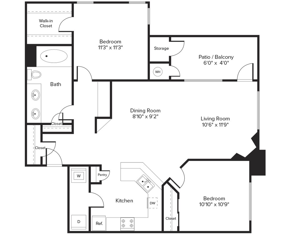 2 Bedrooms 1 Bathroom Apartment for rent at Avalon Willow Glen in San Jose, CA