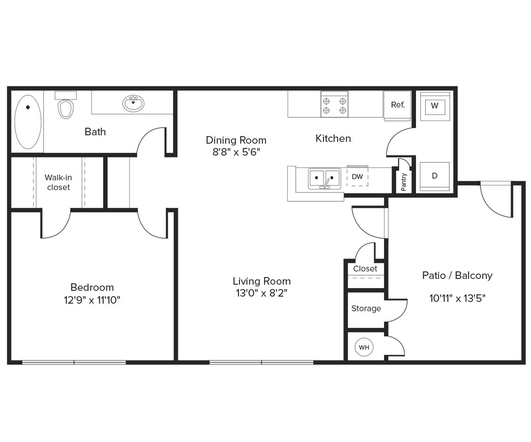 1 Bedroom 1 Bathroom Apartment for rent at Avalon Willow Glen in San Jose, CA